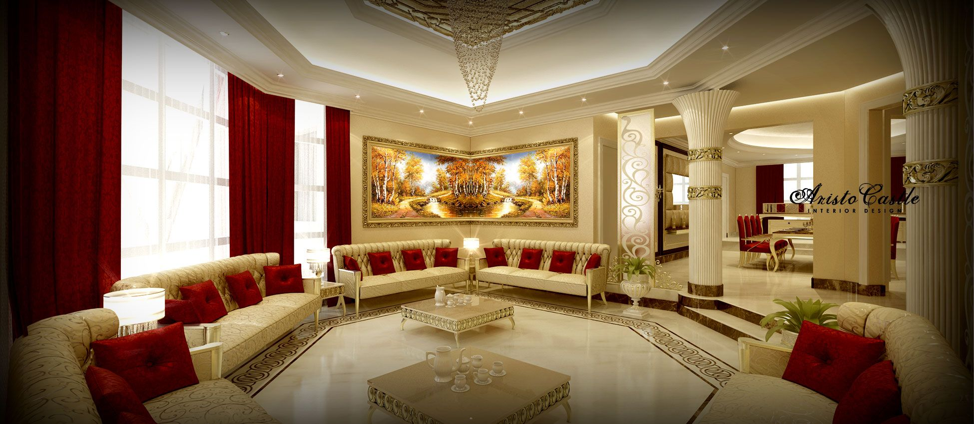 Palace Interior Design By Aristo Castle Luxury Companies In Dubai Classic Interiors Modern