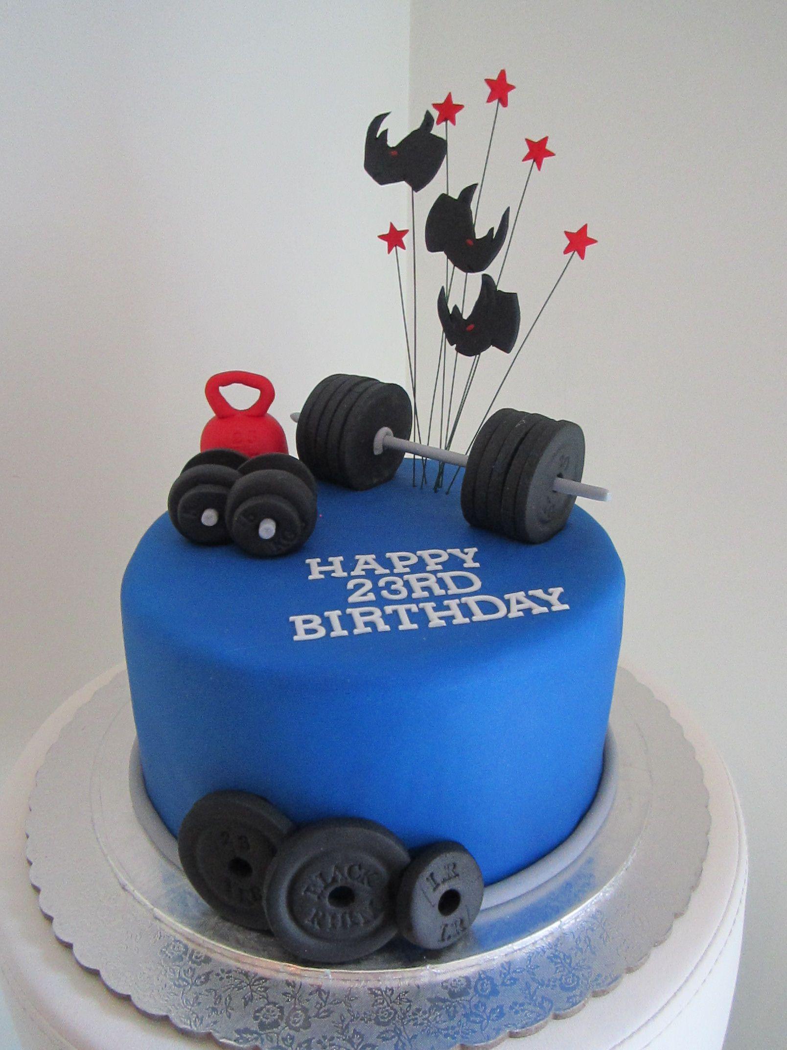 Weightlifters Cake Torty Pinte