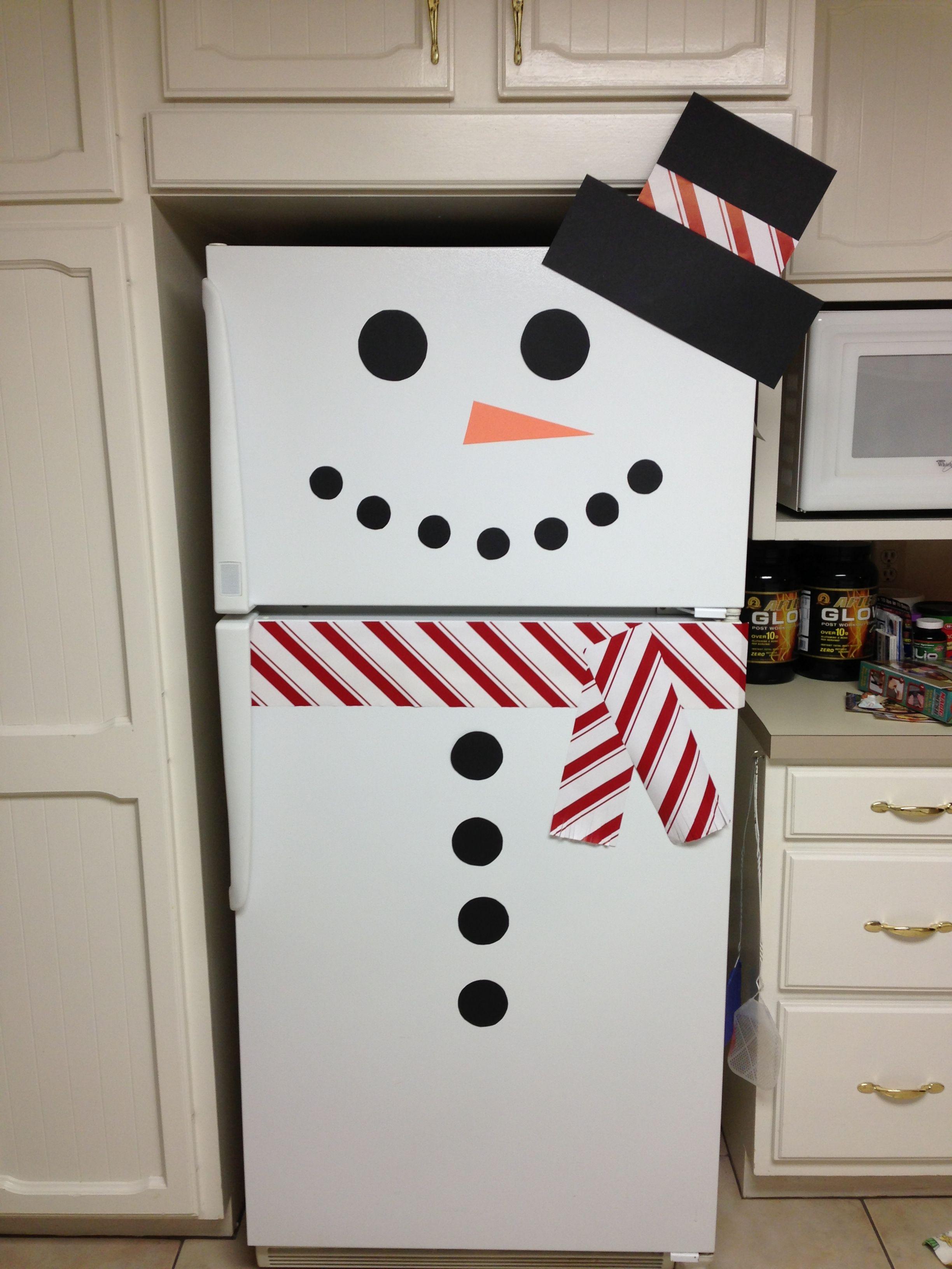 Картинки как украсить холодильник к новому году