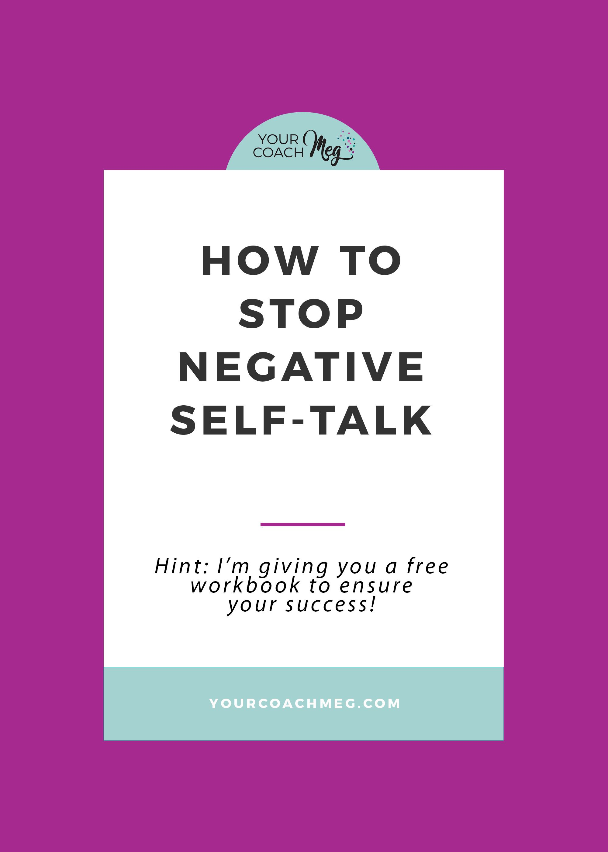 How To Stop Negative Self Talk With A Free Workbook Books Worth