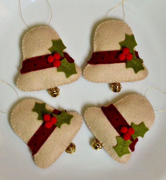 Manualidades De Navidad Campanas.100 Acrilico Felt Campanas De Navidad Fieltros