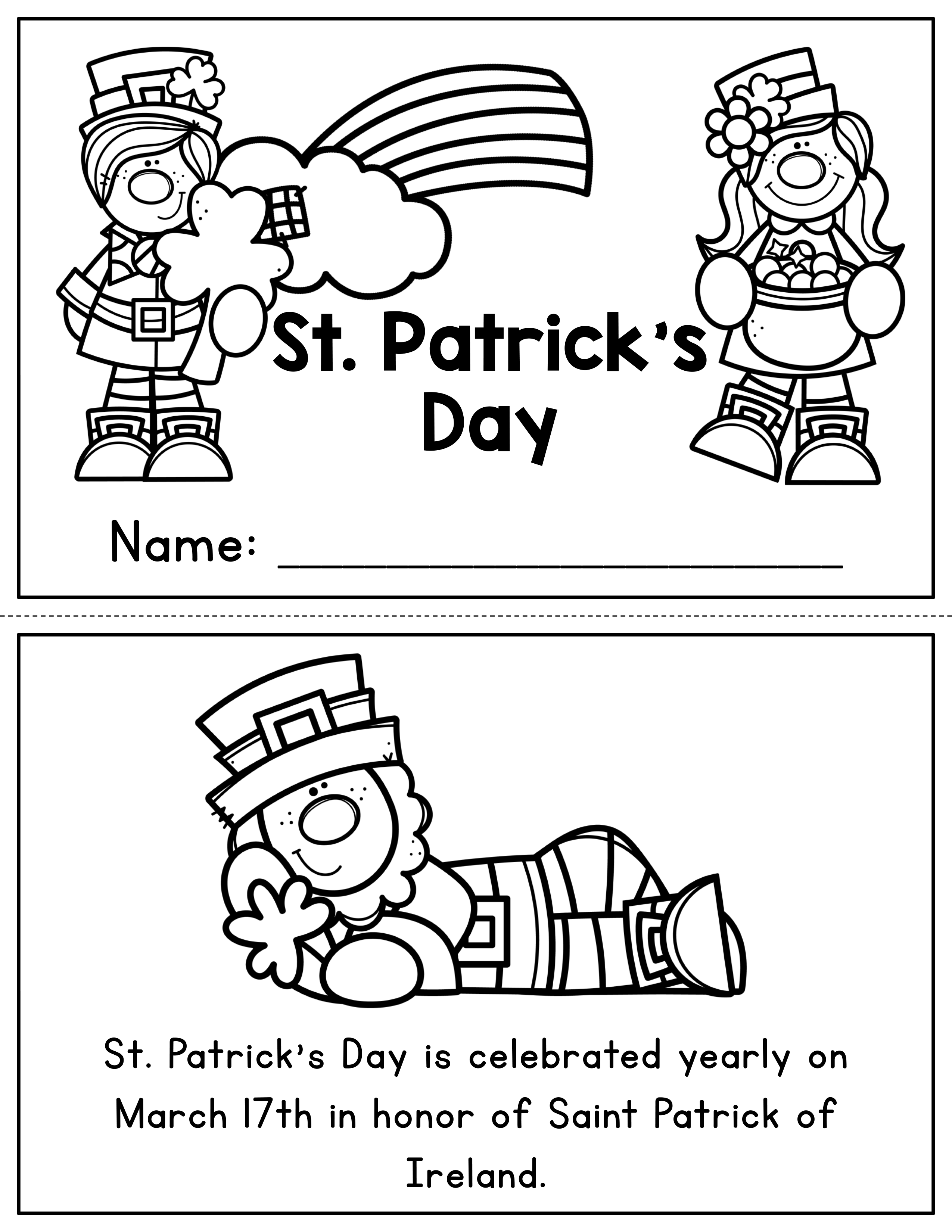 St Patrick S Day Activities And Writing Craft In