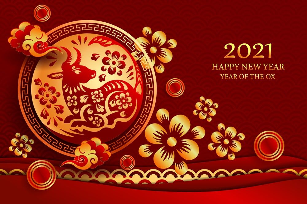 Year Of The Ox 2021 Images And Wallpaper In 2020 Year Of The Cow Chinese New Year Zodiac Chinese Calendar