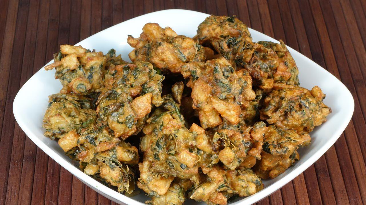 Spinach potato aloo palak pakora manjulas kitchen indian spinach potato aloo palak pakora manjulas kitchen indian vegetarian recipes cooking forumfinder Image collections