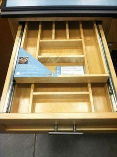 Rev-A-Shelf 4.25 in. H x 11.5 in. W x 21 in. D Tiered Cutlery Drawer with Soft-Close Blum Slides-4WTCD-15SC-1 - The Home Depot