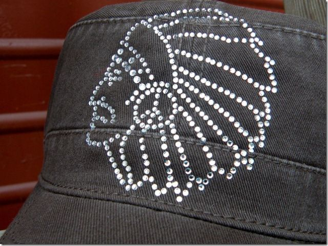 Rhinestone Chief Hat Cadet Style Chocolate $12.99 http://www.dumbblondeboutique.com/rhchhatcastc.html