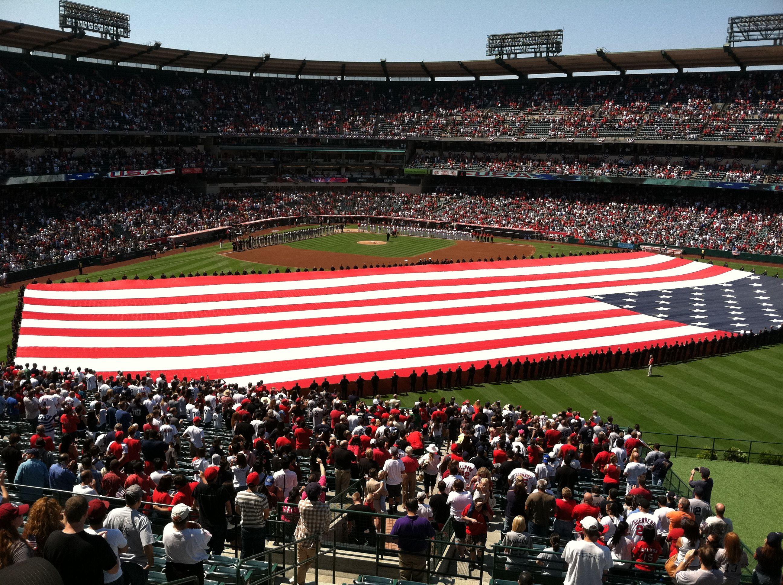 Angels Vs Yankees On 9 11 11 Angel Stadium Angel Stadium Usa Patriotic United States