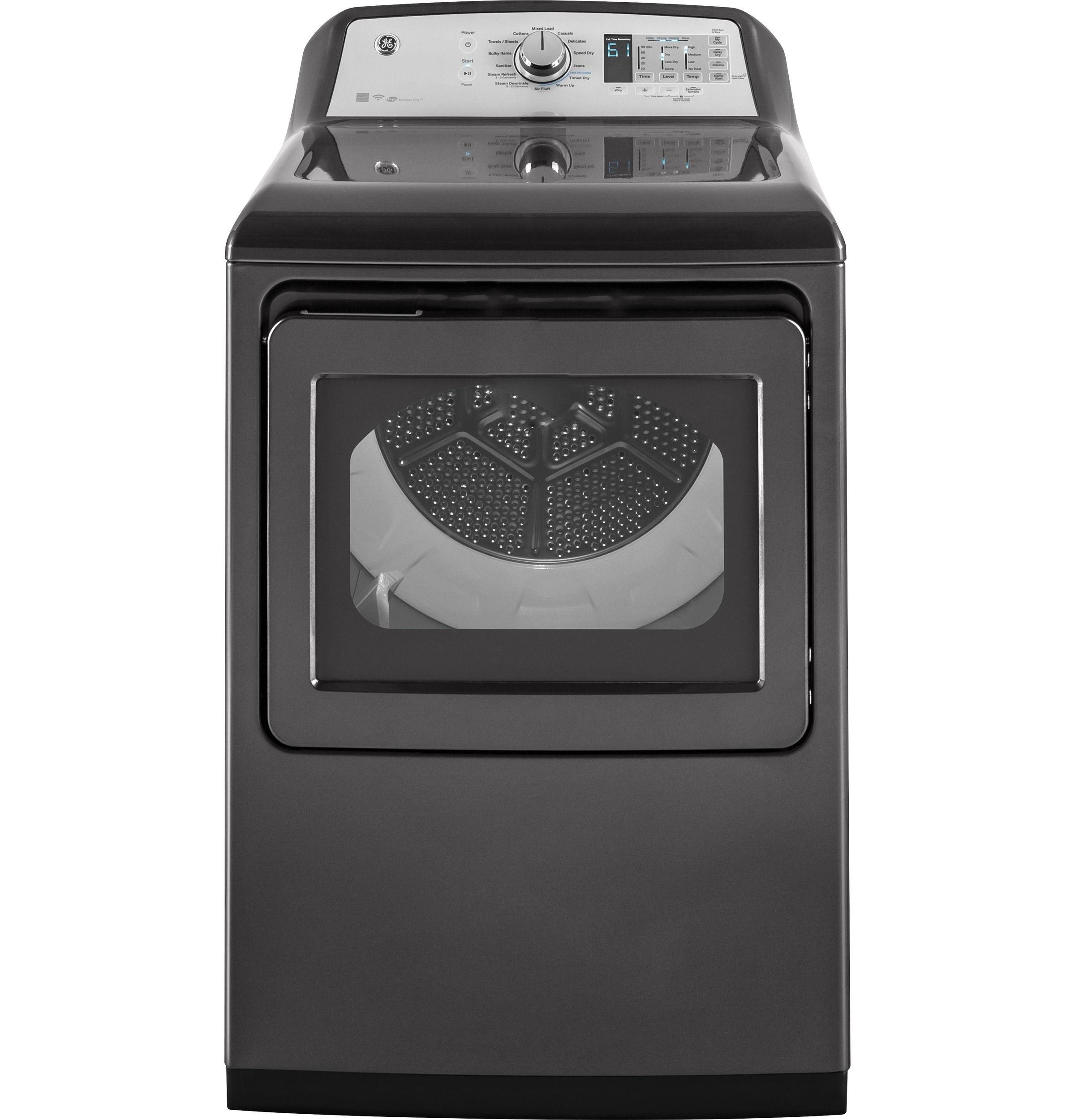 Ge Gtd75ecpldg 7 4 Cu Ft Electric Dryer With He Sensor Dry Diamond Gray Electric Dryers Gas Dryer Energy Star