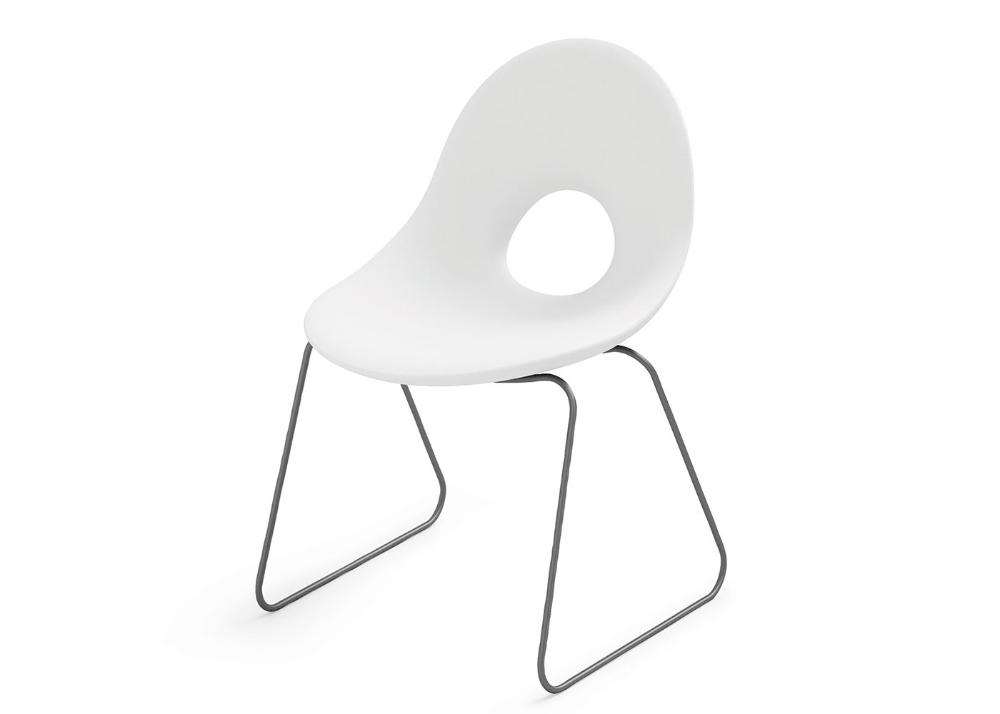 Chaise De Table Exterieur Interieur Rouge Bleu Gris Jaune Blanc Ou Taupe Candy Par Lyxo Table Et Chaises Table Design Et Chaise