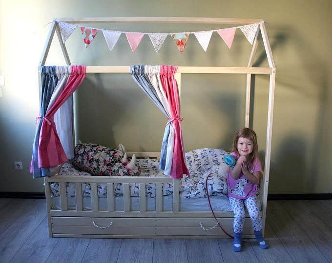 Toddler house beds with slats! Montessori style bed