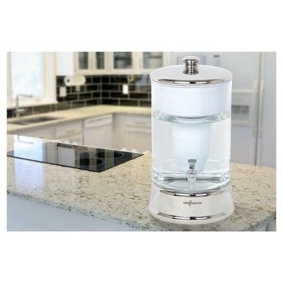 ZeroWater 40-Cup (2.5 Gallon) Filtered Glass Carafe, Clear