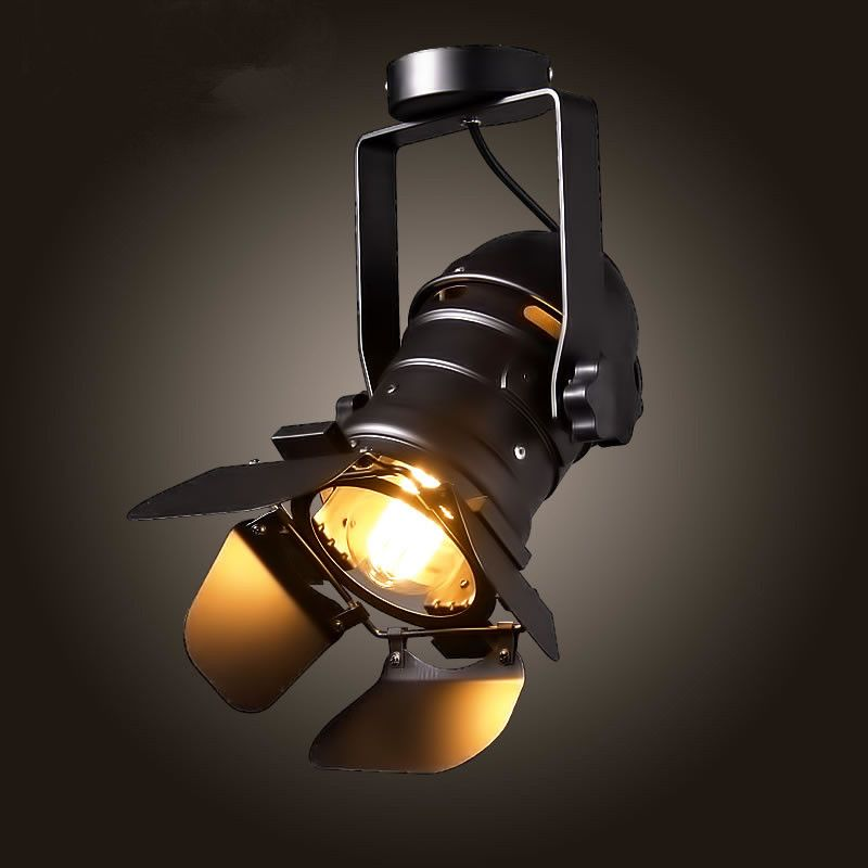 Find More Ceiling Lights Information About Industrial Retro Personality Black Ceiling Lamps E27 Ceiling Lights Dome Light Fixture Led Track Lighting