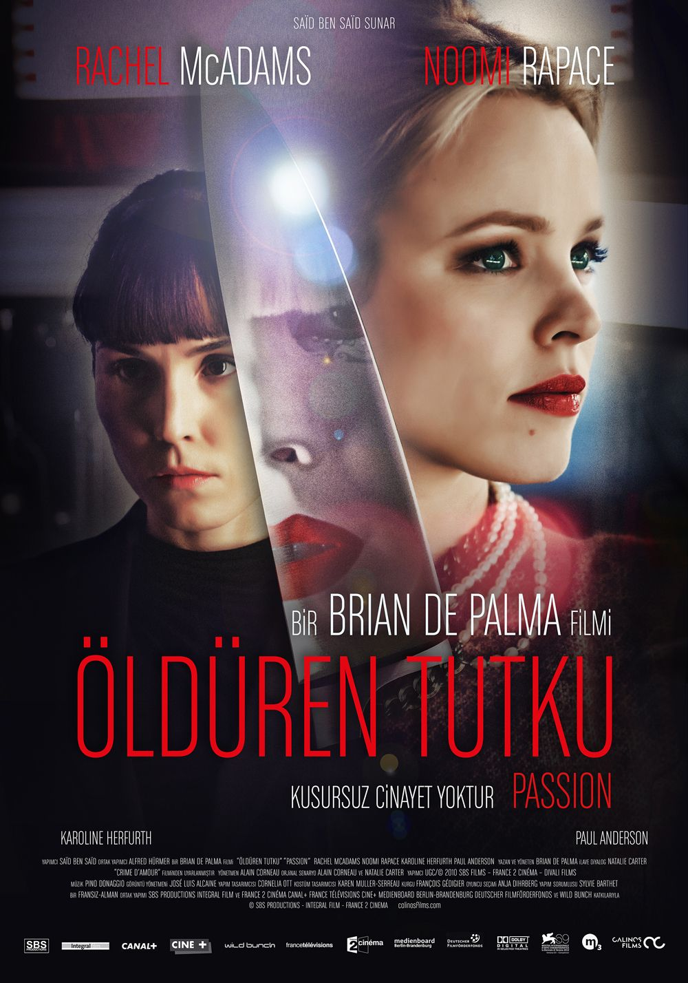 PASSION Turkish poster, directed by Brian de Palma