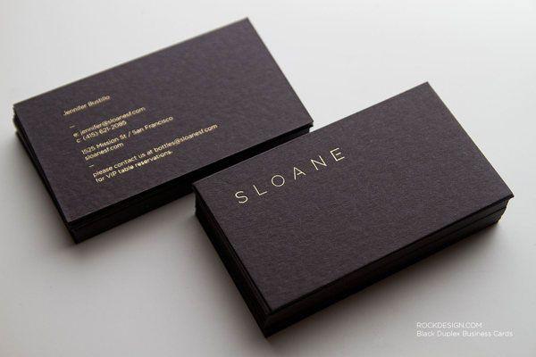 Inspiration 25 Super Cool And Elegant Black Business Cards Blog
