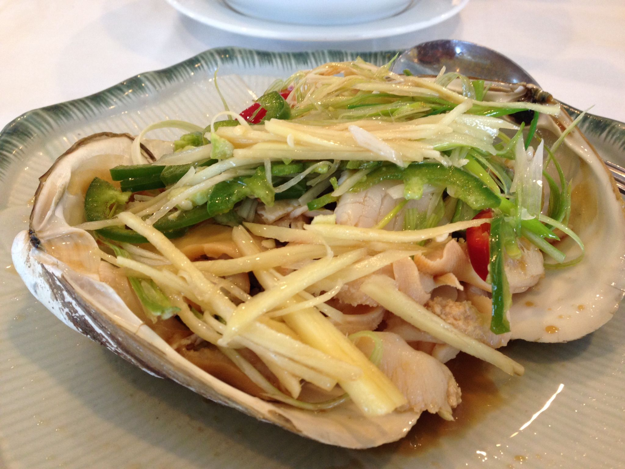 Reblogged Giant Clam With Ginger Peppers And Onion Sacramento