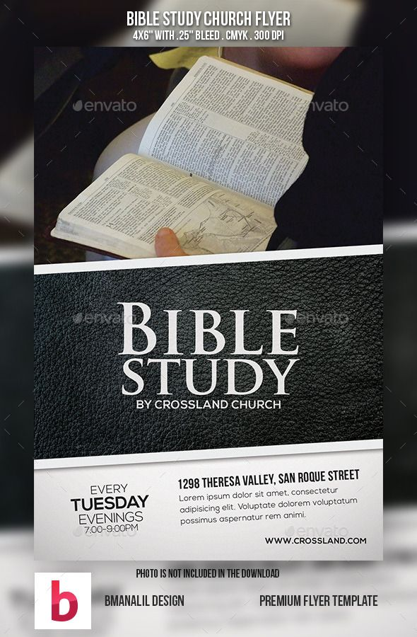 Bible study church flyer flyer template font logo and fonts for Research study flyer template