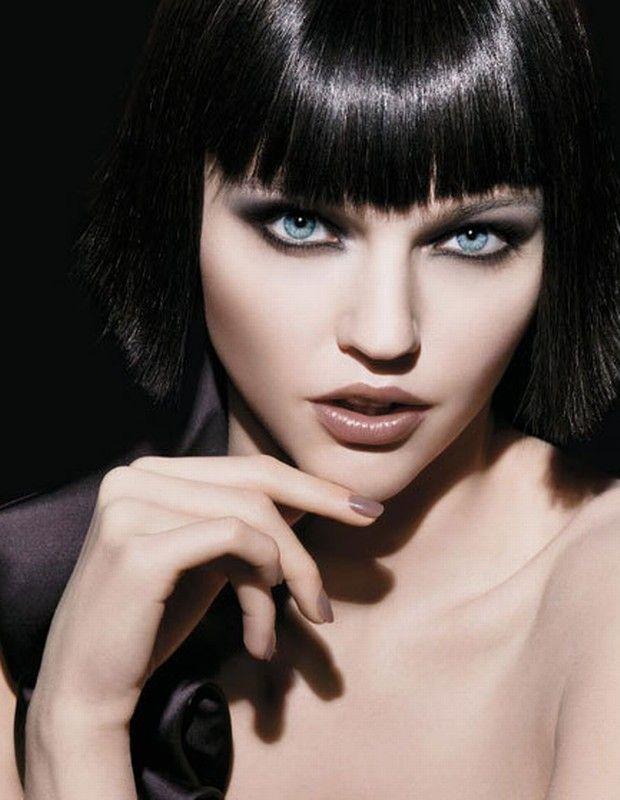 Armani Beauty • F2009 Campaign • Sasha Pivovarova • // The greige/taupe lip colour is intriguing #Armani #Beauty