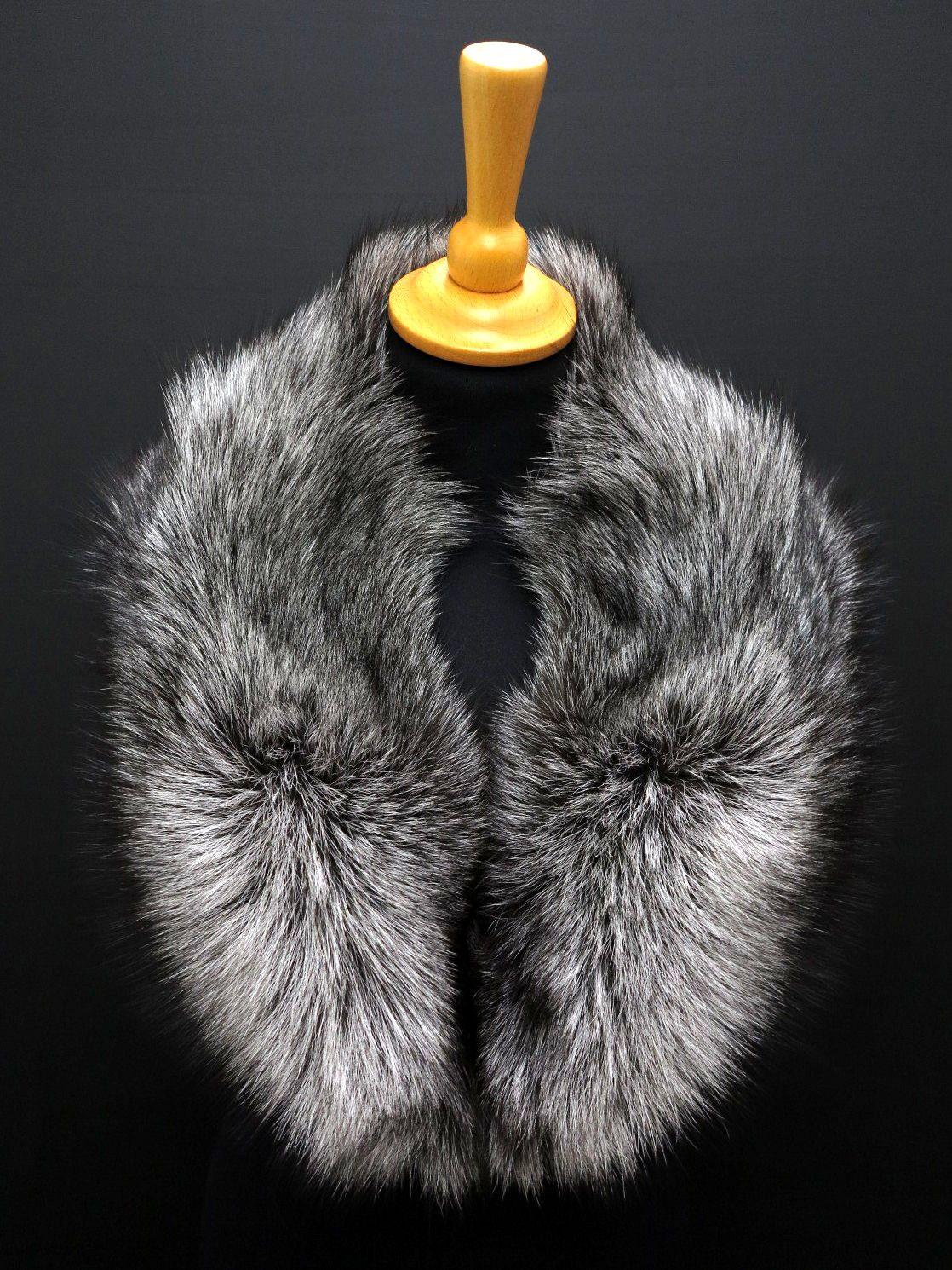 b6801064fb6 Luxusní límec z kožešiny - stříbrná liška  kuzedeluxe  prava  kozesina   real  fur