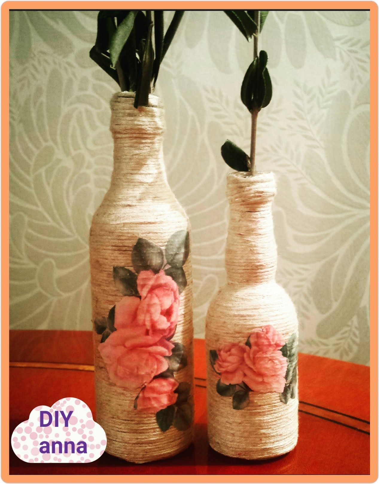 French romance - decoupage champagne bottle 72