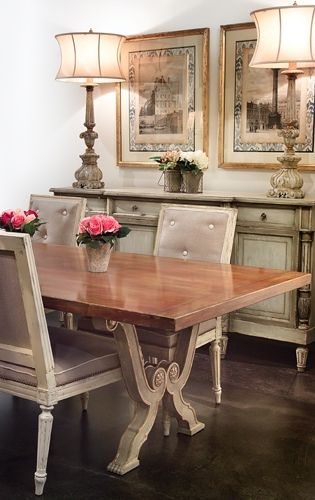 French Country Dining Table, Louisiana Furniture Gallery