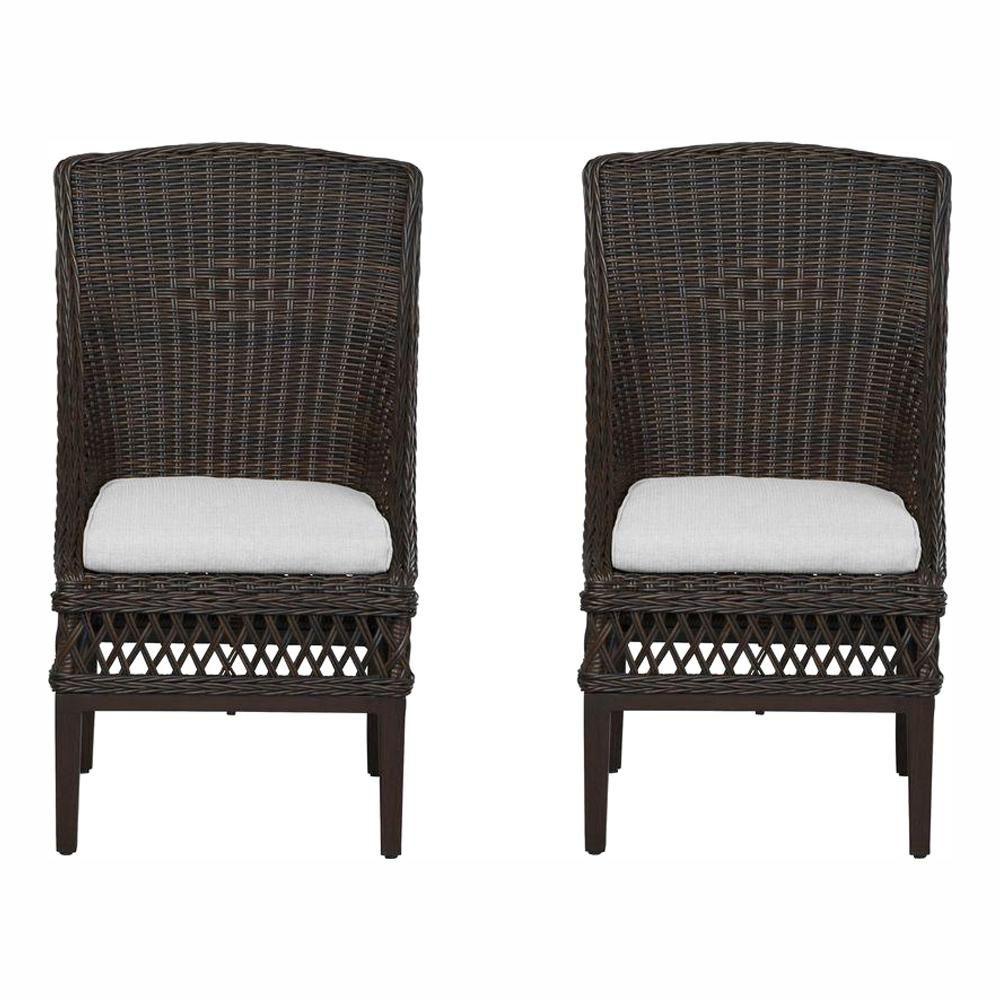 Outstanding Hampton Bay Woodbury Wicker Outdoor Patio Dining Chair With Download Free Architecture Designs Xoliawazosbritishbridgeorg