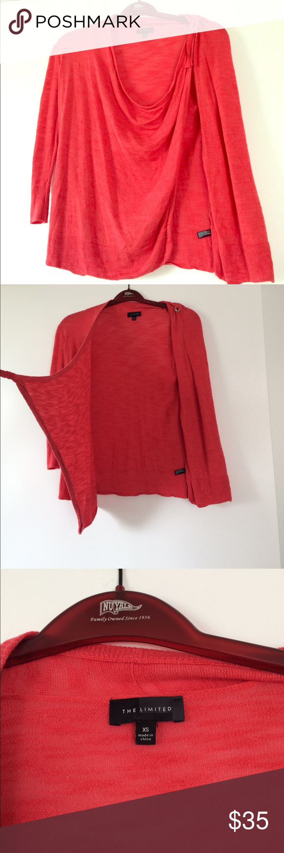 Red summer sweater with shoulder tie | Summer sweaters, Cowl neck ...