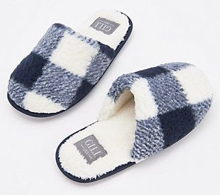 Log these plush sherpa slippers under things that make you go,