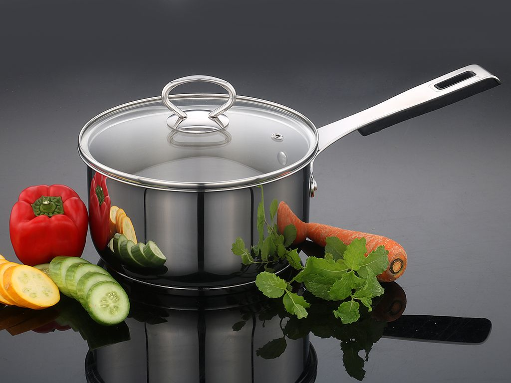#JBCookware elegant shaped sauce pan with beautiful glass lid to enrich your cooking style. To know more, click here http://www.jbcookware.com/products.php#on