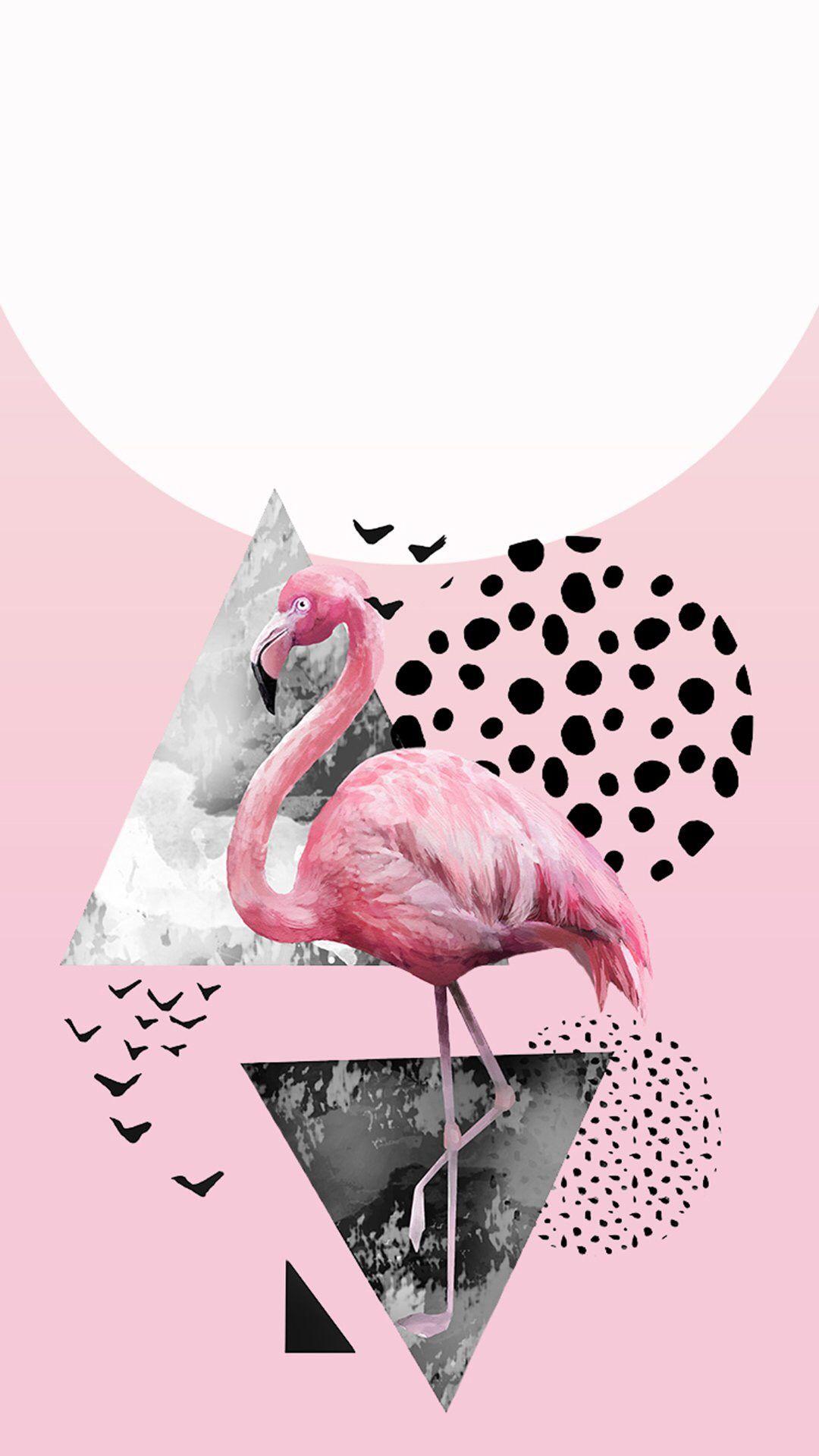 Wallpaper Iphone Papel De Parede Flamingo Fotos Tumblr Com