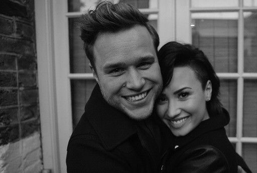 Demi Lovato and Olly Murs photograph from the Up music video