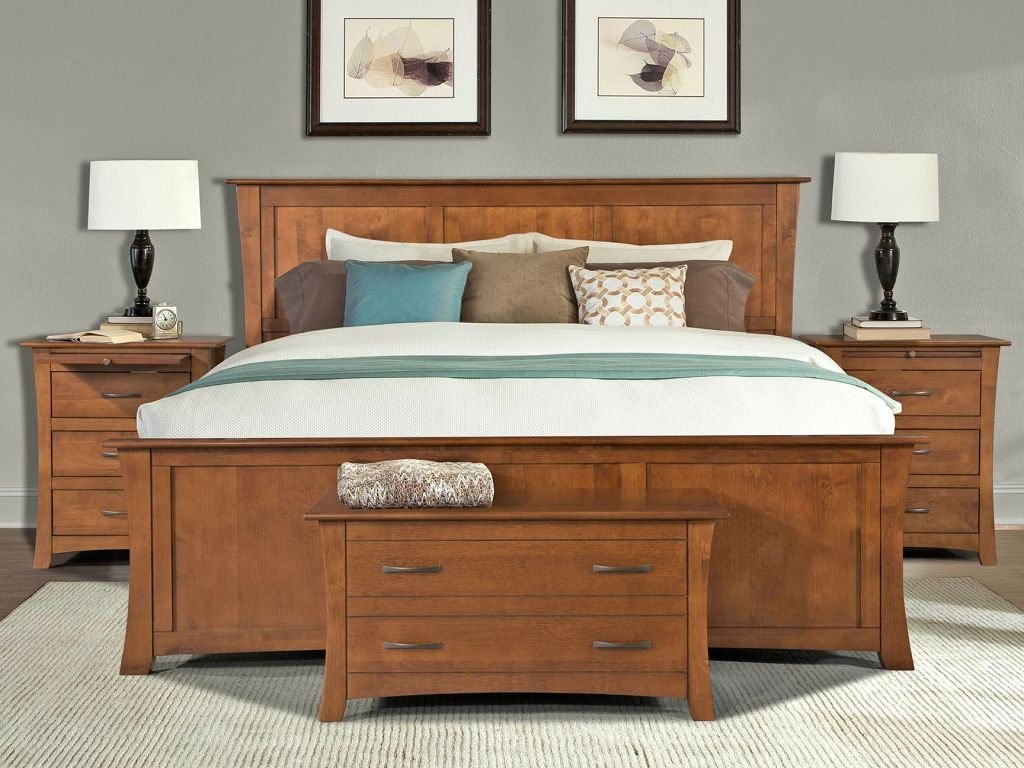 Solid wood american made bedroom furniture interior designs for bedrooms