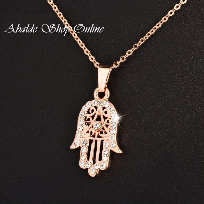 Collar con colgante Mano de Fatima y Turquesa regalo mujeres