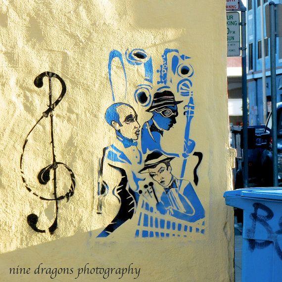 Clef Note Wall Art Jazz Art Street Art Photography by ninedragons ...