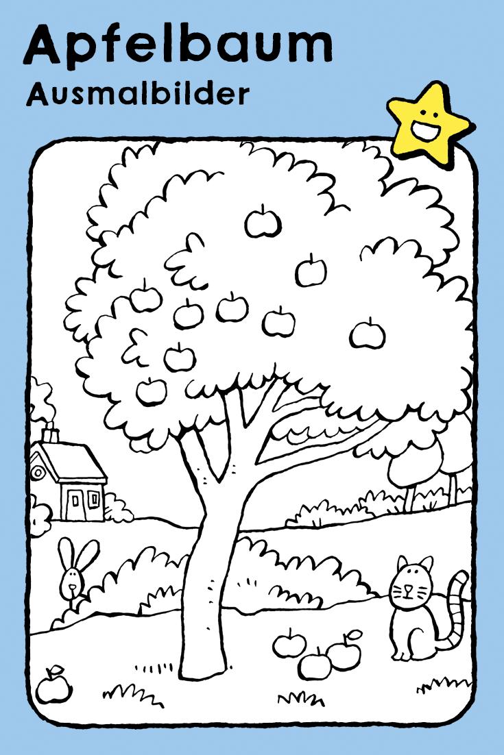 Apfelbaum Ausmalbilder Apfelbaum Palmen Gemalde Kiefer Silhouette
