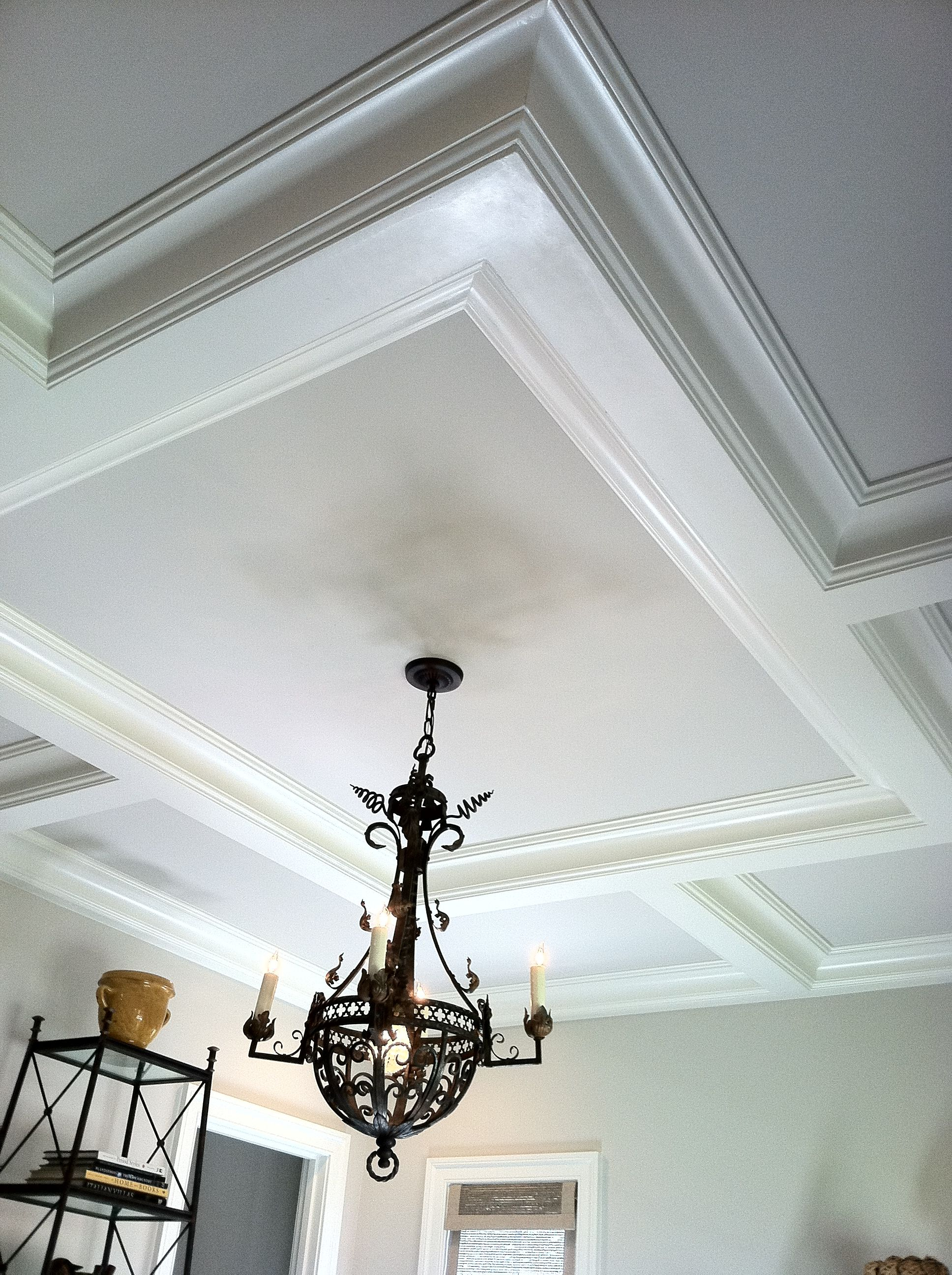 Love to do this coffered ceiling in the master bedroom more