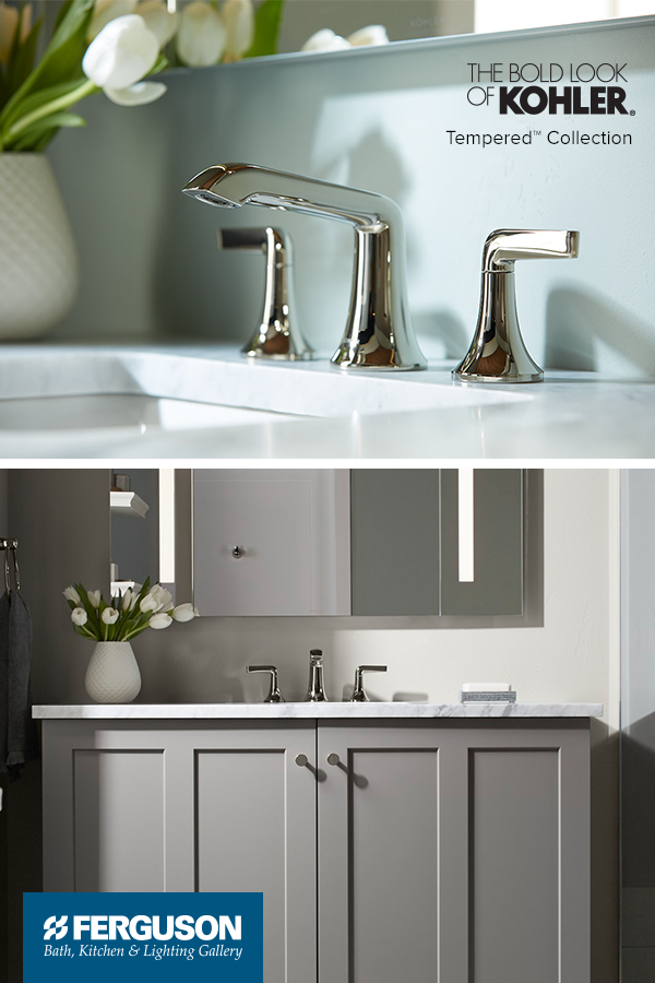 The Kohler Tempered Collection is a full bathroom collection that