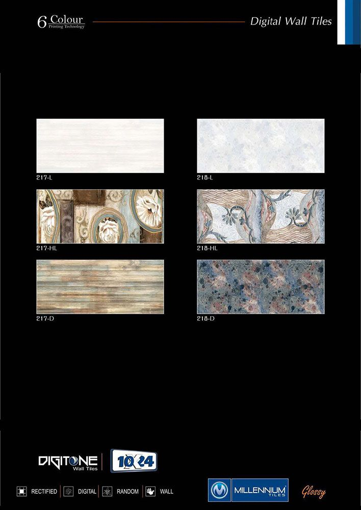 Millennium Tiles 250x750mm 10x24 Glossy Ceramic Wall Tiles Series Ceramic Wall Tiles Digital Wall Wall Tiles