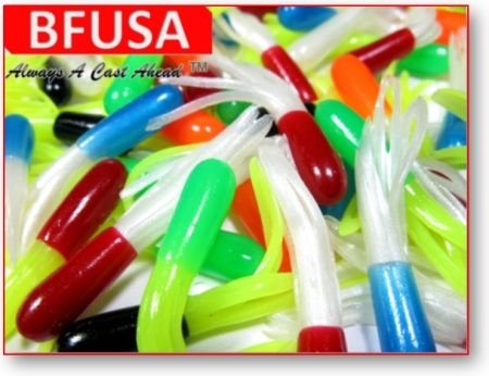 New BFUSA crappie fishing tubes.