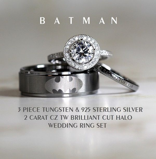 these are the ultimate wedding rings for hardcore movie geeks - Nerd Wedding Rings