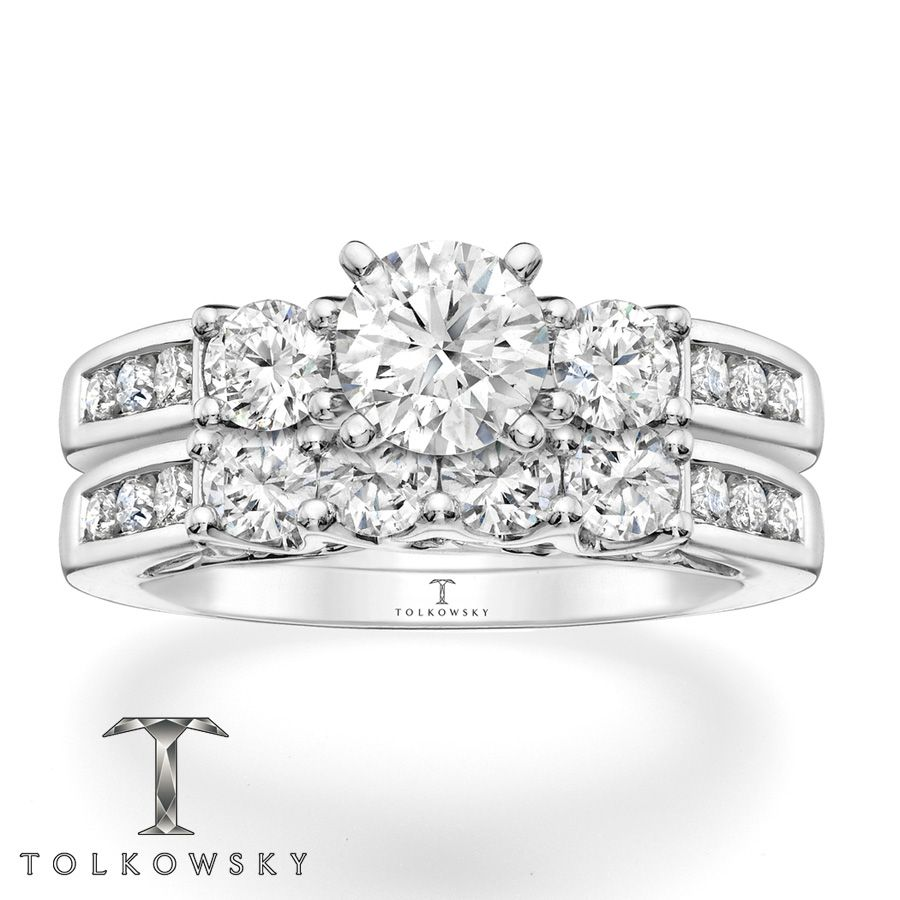 Kay Tolkowsky Bridal Set 1 7 8 Carat Tw Diamonds 14k White Gold