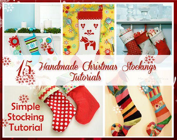 15 Handmade Christmas Stockings Tutorials!