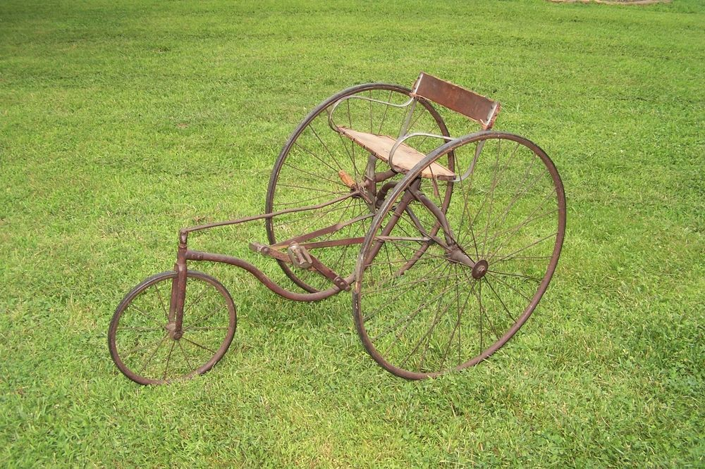 This Sale Is For A Antique Victorian Velocipede Tricycle