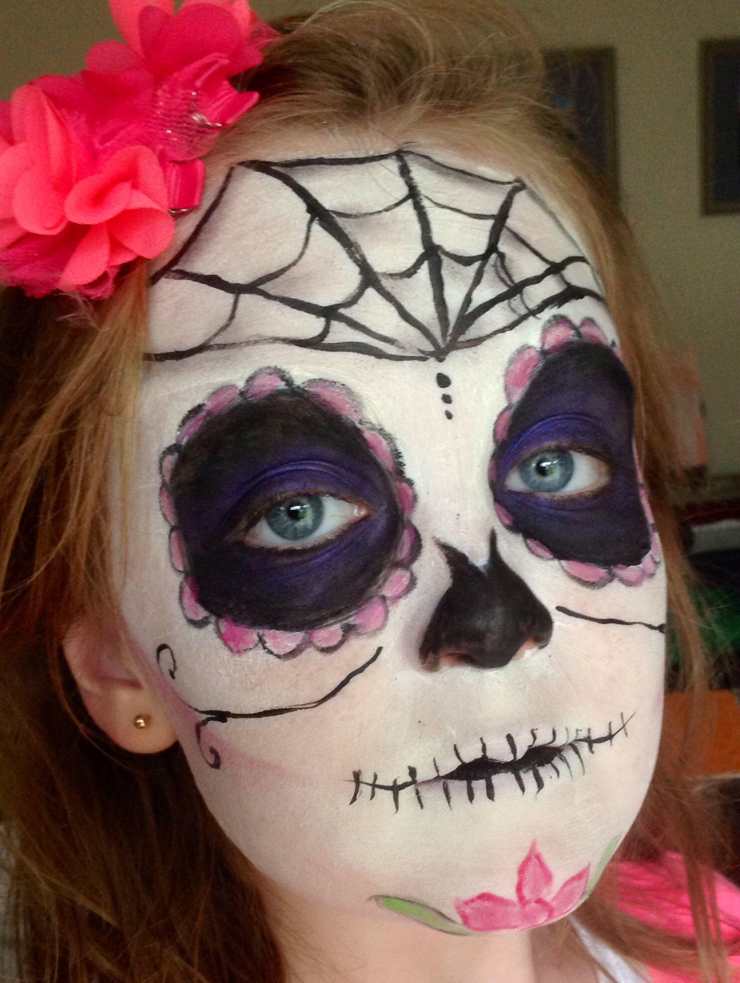 Halloween sugar skullMehron paradise paints/white, MAC