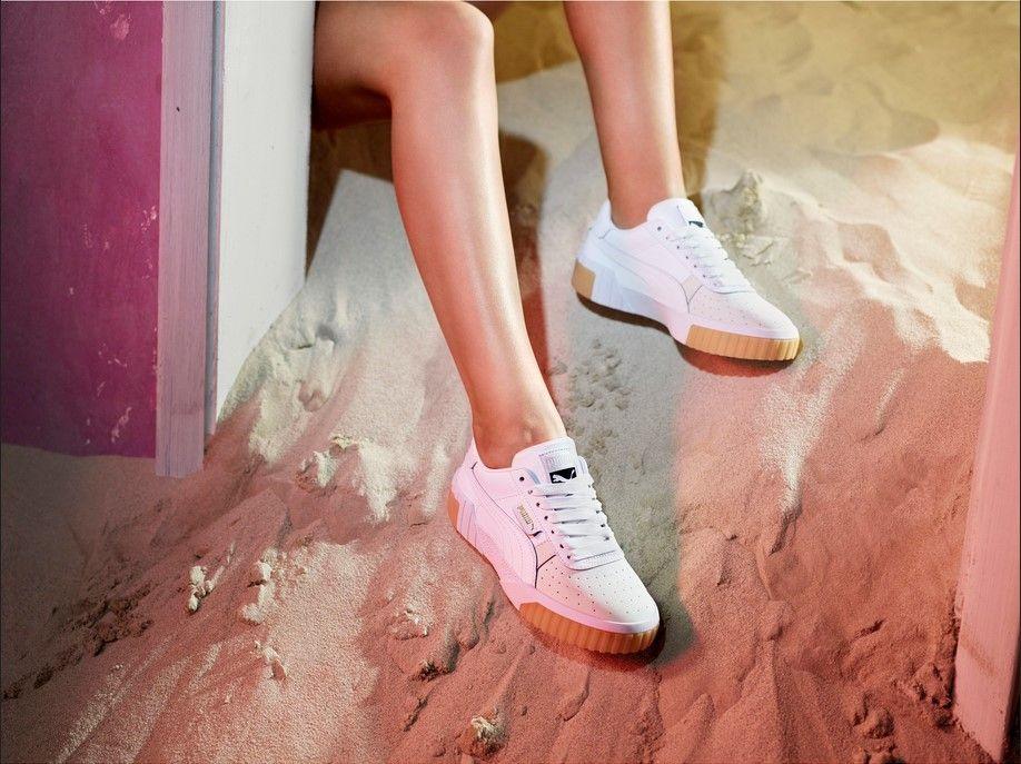 basket femme puma cali blanche