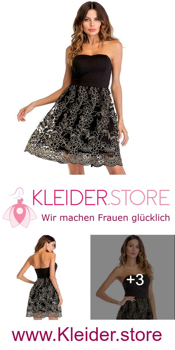 Schickes Schulterfreies Cocktailkleid Mit Spitzenrock Stickerei Dir Gefallt Das Kleid Dann Probiere Das Kleid Jetzt Unve Modestil Cocktailkleid Spitzenrock