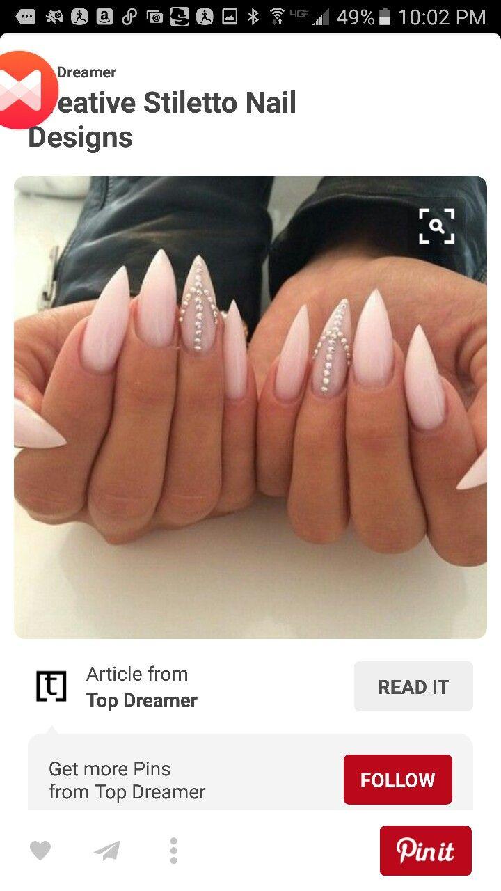 Pin de Angela en nails | Pinterest | Tacones de aguja, Uñas acrílico ...
