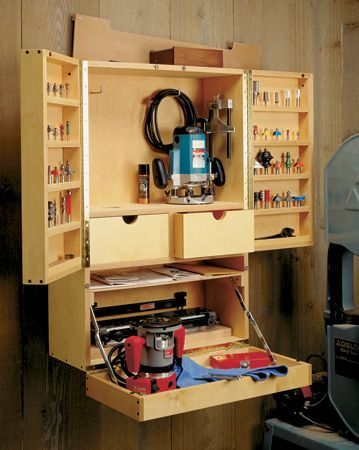 Router Bit Cabinet Woodsmith Plans Woodworking