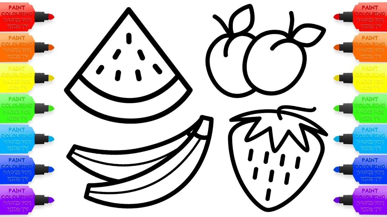Drawing For Kids 8 Fruit Coloring Pages How To Draw Watermelon