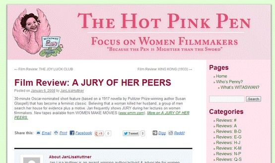 """Read my review of """"A Jury of Her Peers"""" on the Hot Pink Pen."""