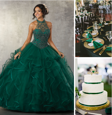 c38235cbaf8 Play the Elegant Quinceanera Role Choosing Emerald as your color
